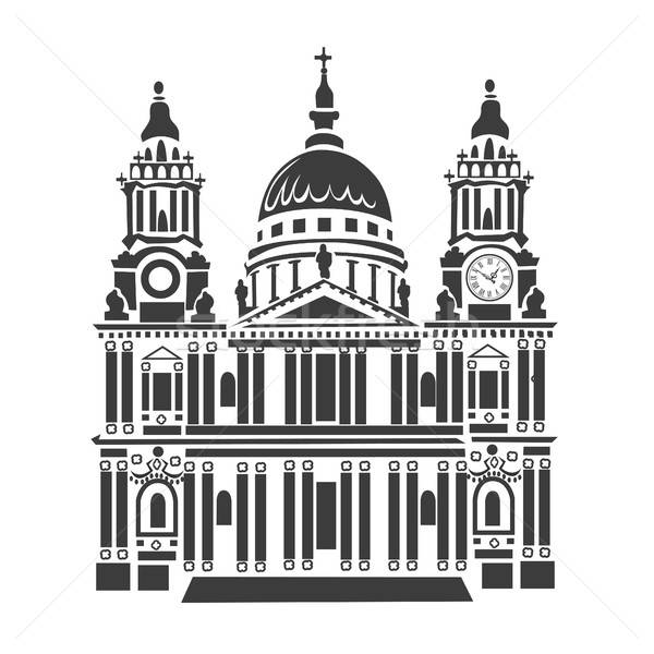 St Paul Cathedral in London Stock photo © bedlovskaya
