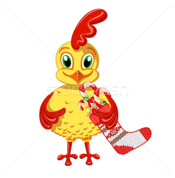 Cheerful Cockerel Stock photo © bedlovskaya