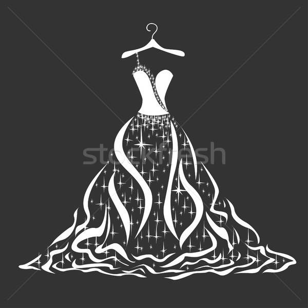 подвенечное платье силуэта женщину цветы девушки Сток-фото © bedlovskaya