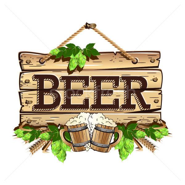старые пива продовольствие фон Billboard Сток-фото © bedlovskaya