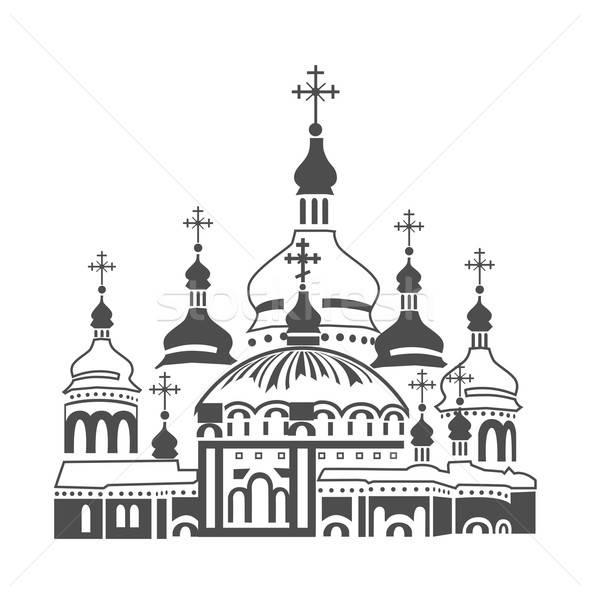 Ortodoks katedral kilise beyaz stil Hristiyan Stok fotoğraf © bedlovskaya