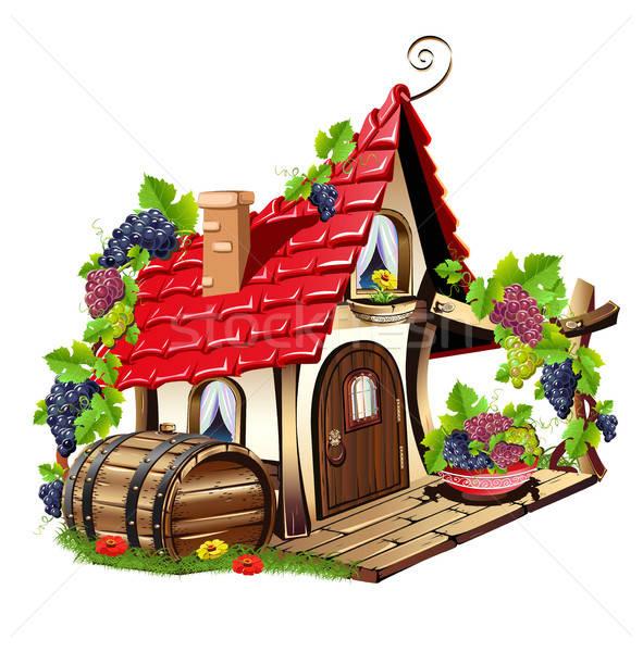 Weinig fairy huis fabelachtig home druiven Stockfoto © bedlovskaya