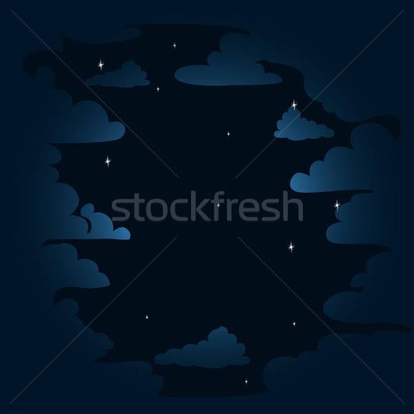 Nacht wolken hemel textuur kunst Stockfoto © bedlovskaya