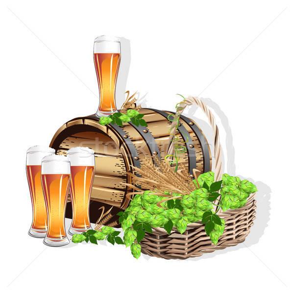 Beer still life Stock photo © bedlovskaya