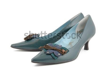 Lady обувь изолированный белый девушки запустить Сток-фото © bedo