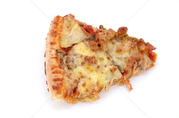 ломтик пиццы пиццы изолированный белый горячей Сток-фото © bedo