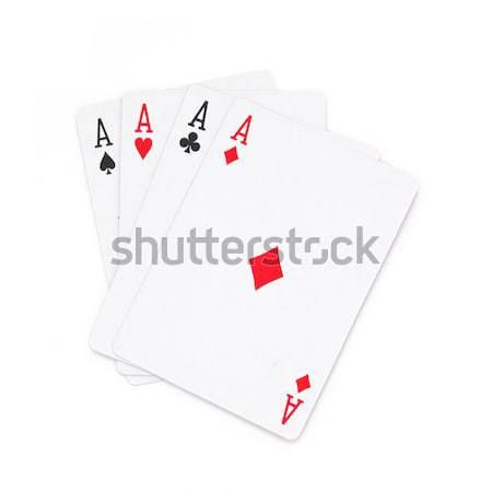 Four aces Stock photo © bedo