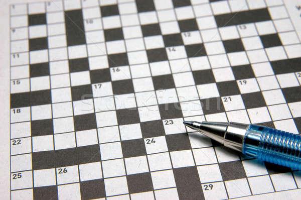 кроссворд головоломки пер весело вопросе Сток-фото © bedo