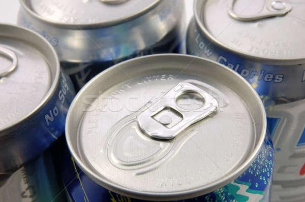 олово воды металл синий напитки Сток-фото © bedo