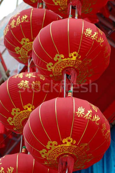 китайский красный праздник освещение празднования Сток-фото © bedo