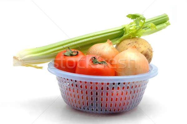 растительное коллекция корзины томатный картофеля лука Сток-фото © bedo
