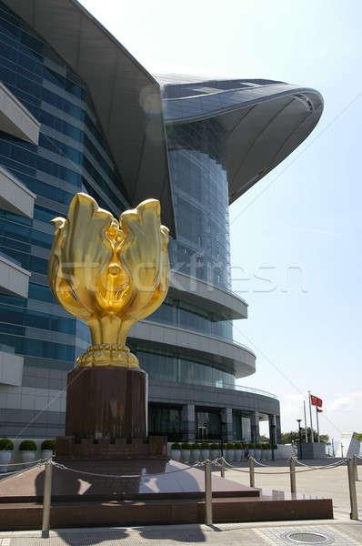 скульптуры квадратный Гонконг конвенция выставка Сток-фото © bedo