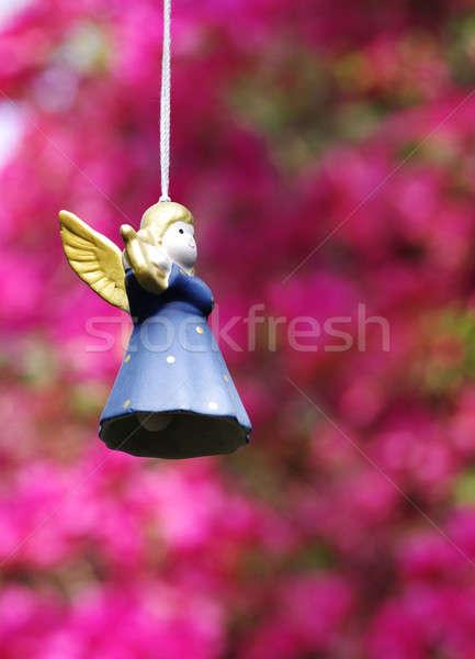 Seramik melek dekorasyon ışık oyuncak altın Stok fotoğraf © beemanja