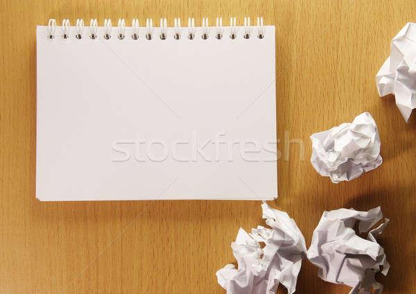 Kitap boş sayfa kâğıt okuma beyaz Stok fotoğraf © beemanja
