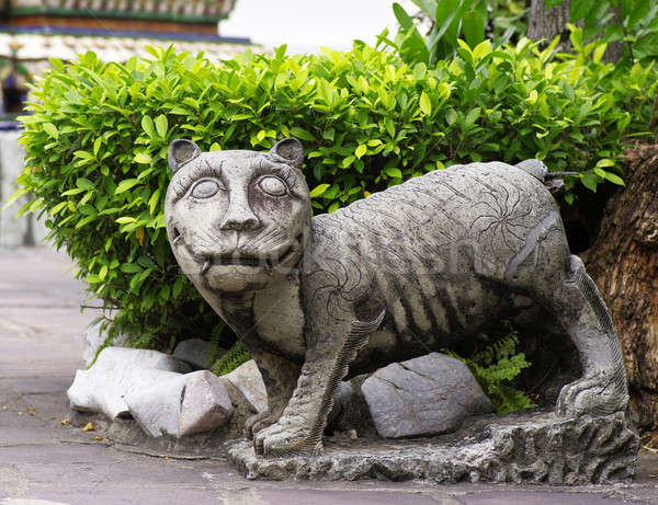 虎 石 像 芸術 ライオン 歴史 ストックフォト © beemanja