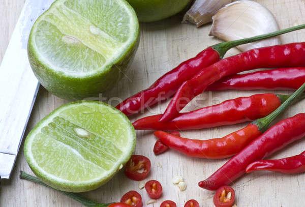 Bileşen pişirme gıda arka plan sıcak pişirmek Stok fotoğraf © beemanja