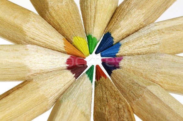 closeup of color pencils Stock photo © beemanja