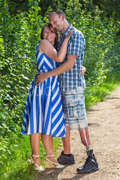 Contented loving couple Stock photo © belahoche