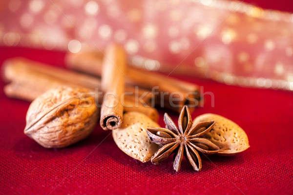 корицей анис орехи красный Сток-фото © belahoche