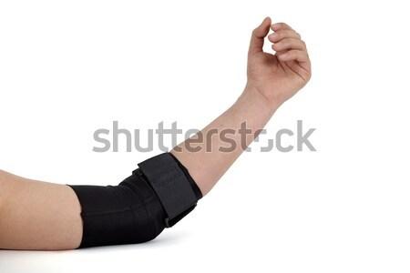 łokieć wsparcia medycznych bandaż około strony Zdjęcia stock © belahoche