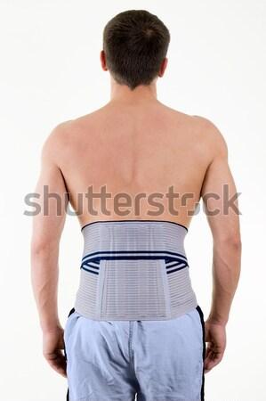 Uomo indossare legname sostegno cintura Foto d'archivio © belahoche