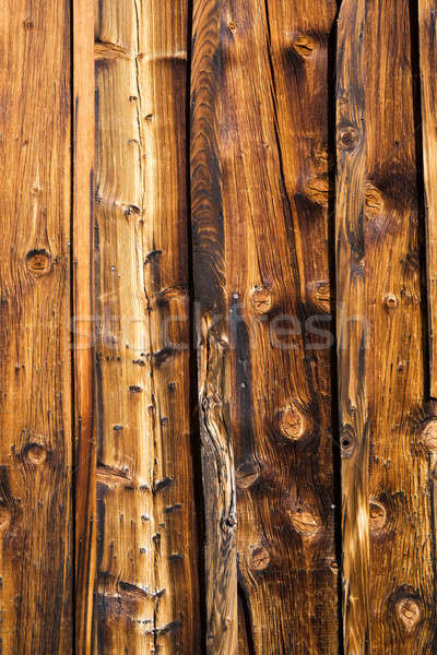 Brown wooden wall made of lacquered boards Stock photo © belahoche