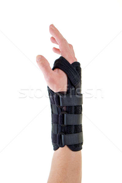 Person Wearing Supportive Brace on Wrist Stock photo © belahoche