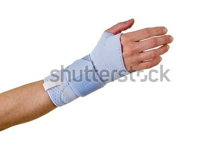 Person Wearing Supportive Hand and Wrist Brace Stock photo © belahoche