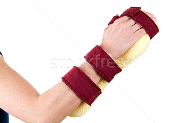 Person Wearing Cushioned Brace on Hand and Wrist Stock photo © belahoche