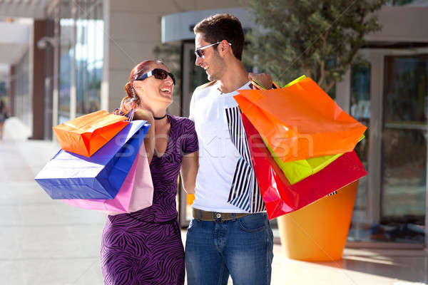 Heureux Shopping autre Photo stock © belahoche