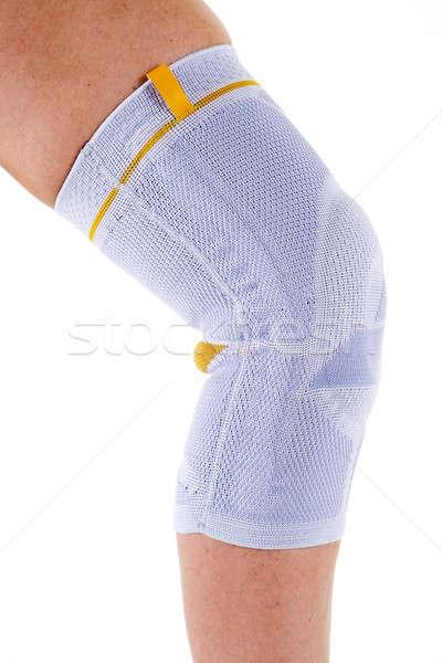 Férfi visel támogató térd láb közelkép Stock fotó © belahoche