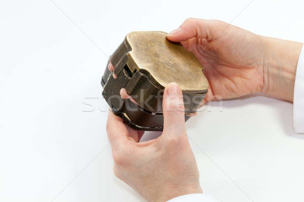Pressing Negative Ear Plaster Form with Silicone Stock photo © belahoche