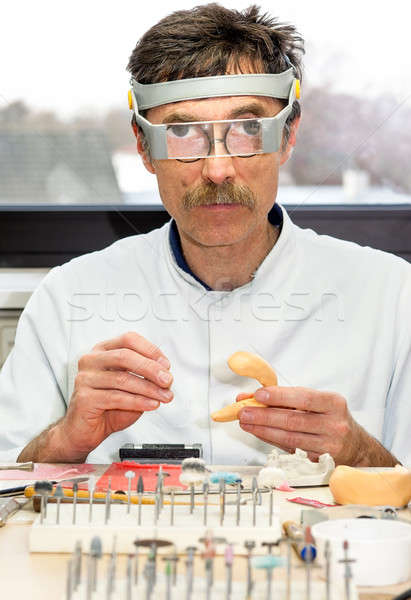 Professional Making Prosthetic Facial Dental Stock photo © belahoche