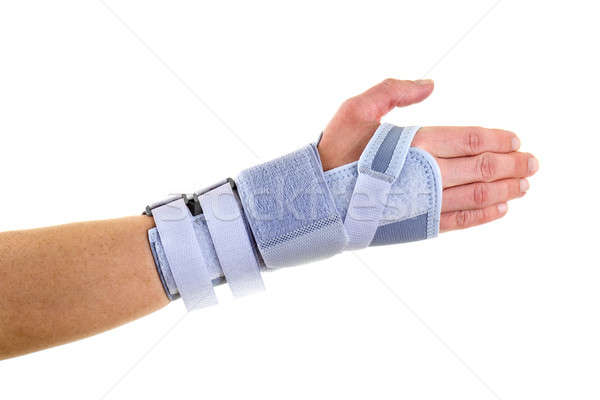 Man Wearing Supportive Wrist Brace in Studio Stock photo © belahoche