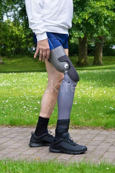 Jambes homme gris plastique Photo stock © belahoche