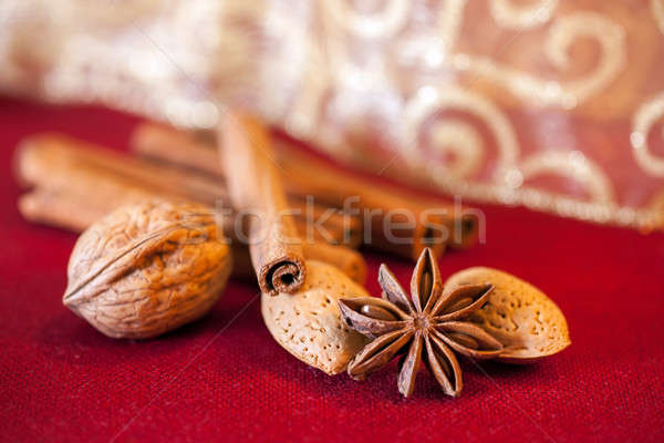Cinnamon and anise, christmas time. Stock photo © belahoche