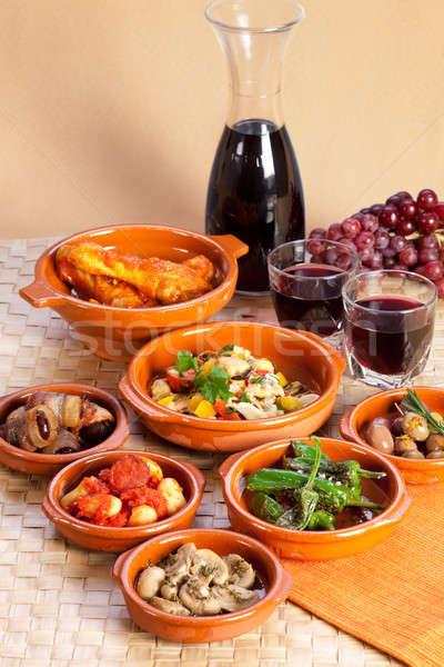 Traditional spanish tapas.  Stock photo © belahoche