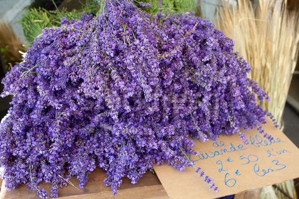 Bunches of lavender flowers for sale, France, Provence.  Stock photo © belahoche