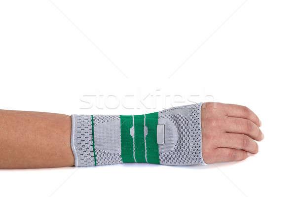 Túnel síndrome mão isolado branco negócio Foto stock © belahoche