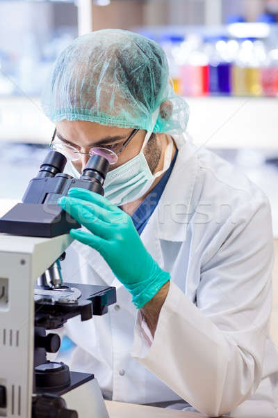 Scientist at work in a chemical laboratory. Stock photo © belahoche