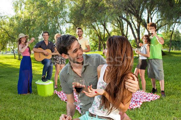 Feliz romántica jóvenes Pareja cariñoso Foto stock © belahoche