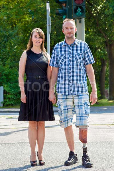 Homme artificielle membre handicapés une Photo stock © belahoche
