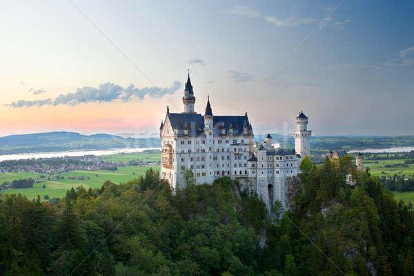 Kasteel Duitsland brug hemel schoonheid Stockfoto © belahoche