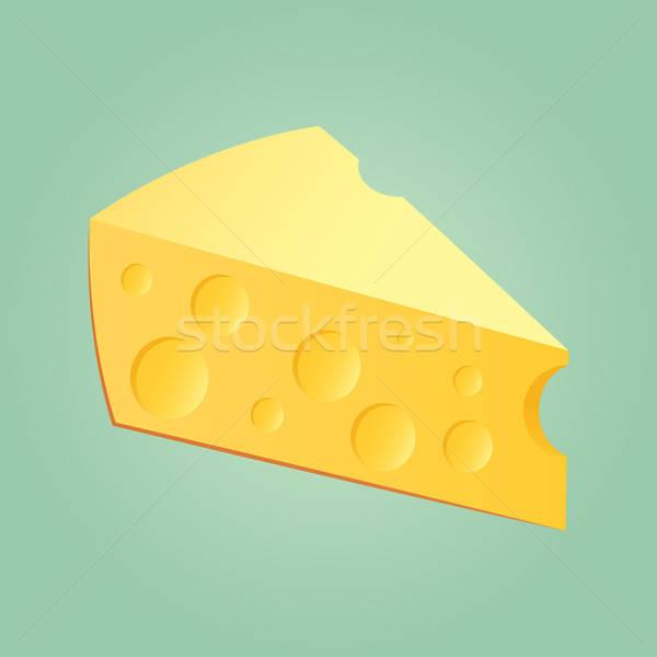 Slab Of Cheese Stock photo © Belyaevskiy