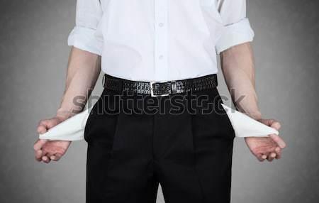 пусто бизнесмен белый рубашку бизнеса стороны Сток-фото © Belyaevskiy