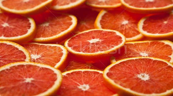 Foto stock: Laranja · fatias · inteiro · monte · secas · comida