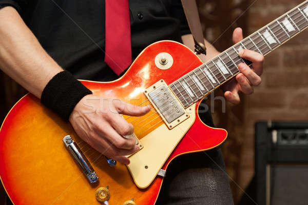 Musician With Electric Guitar Stock photo © Belyaevskiy