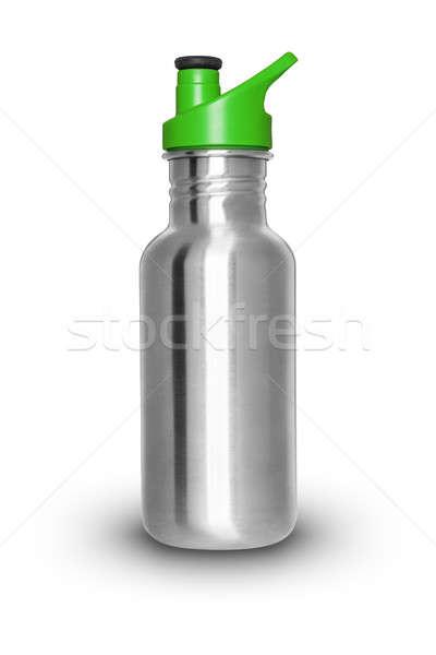 Aluminium butelki błyszczący odizolowany biały wody Zdjęcia stock © Belyaevskiy