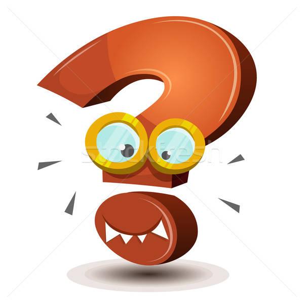 Question Mark Character Stock photo © benchart