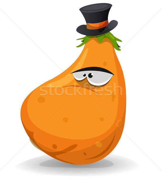 Pumpkin Character With Hat Stock photo © benchart